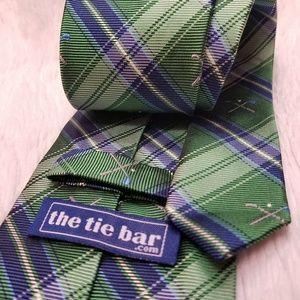 The Tie Bar Golf Green/Blue Men's Neck Tie (A214)